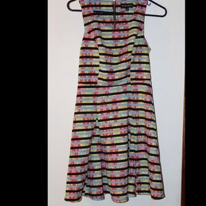 Stripped multi color dress